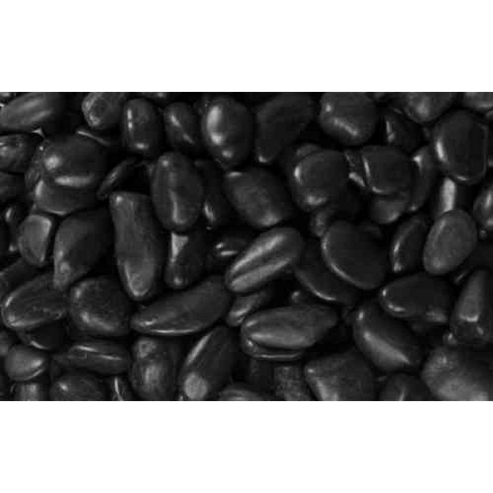 0.4 cu. ft., 1 in. to 2 in. Black Grade A Polished Pebbles (30-Pack Pallet)
